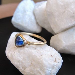 14k solid gold handmade ring.